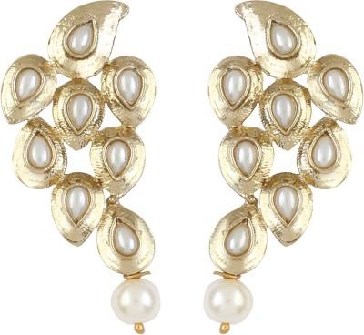 Radius White Pearl Zircon Metal Stud Earring