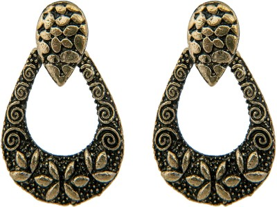 Pankh Antique Golden Drop Earrings Alloy Drop Earring