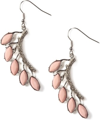Rubans Petal Design On One Side Alloy Dangle Earring