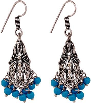 Gems N Pearls Trendy German Silver Dangle Earring