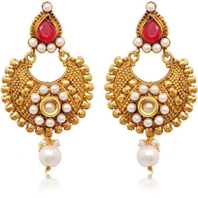 Ratnakar Gold big bali with coin design Alloy Chandbali Earring