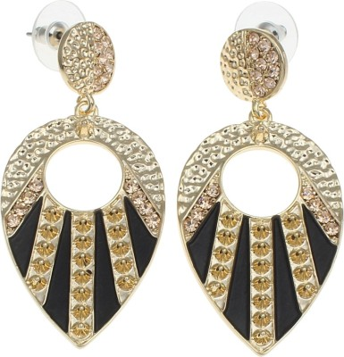 Golden Peacock Style Diva Alloy Drop Earring