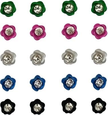 Verceys Fashion Jewellery Crystal Ceramic Stick-on Earring