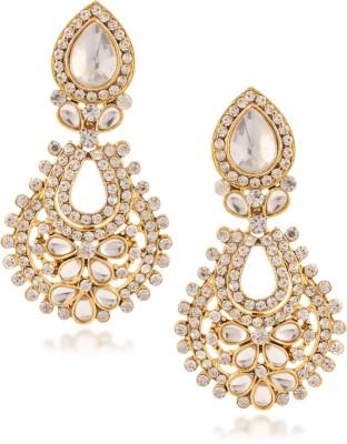 Fashionaya White Sun Cubic Zirconia Alloy Drop Earring