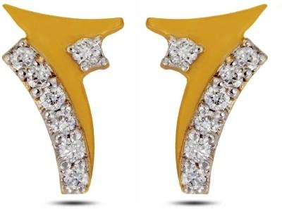 P.N.Gadgil Jewellers Victory Yellow Gold 18kt Diamond Stud Earring