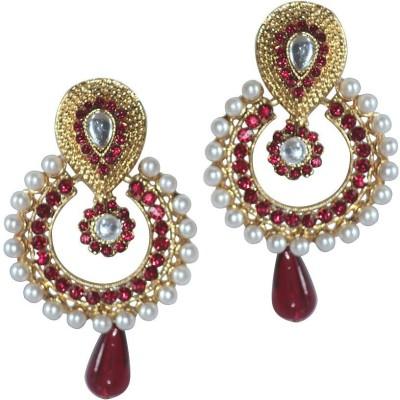 Grand Jewels Mahi13 Emerald Alloy, Brass Chandbali Earring