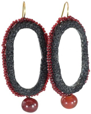 Ba No Batwo Pratibimb Glass, Silk Dori Dangle Earring