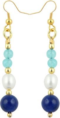 Pearlz Ocean Provocative Pearl, Jade Alloy Dangle Earring
