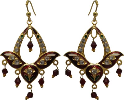 Maheshwari Fashion Brass Chandelier Earring