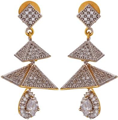 SB Fashions american diamond earring Brass Stick-on Earring, Drop Earring