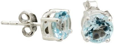 YugshaJewels Elegant YJE-1465 Topaz Sterling Silver Stud Earring