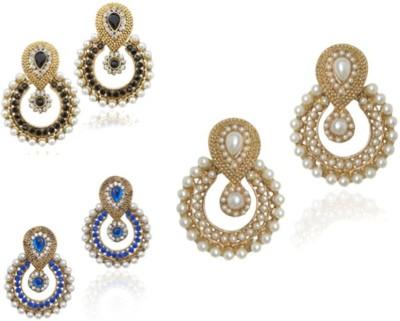 Jewels Guru combo-02 Zircon Alloy Chandelier Earring