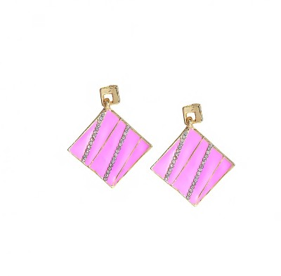 Bezel ME - 56 Golden Pink Alloy Drop Earring