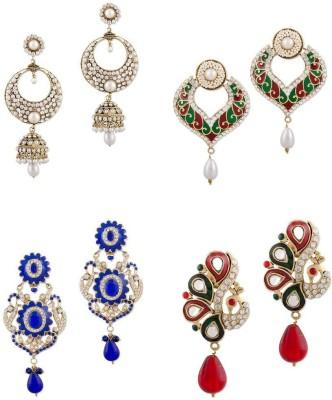 Buyclues RCCJ3435 Crystal Brass Earring Set