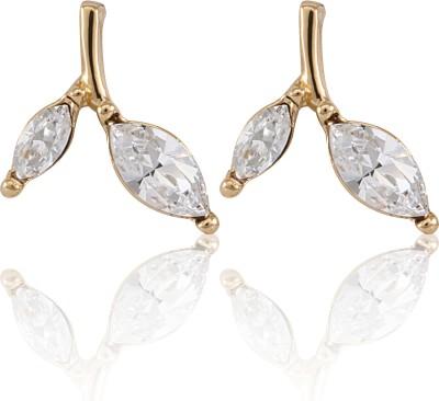 Infinity Nature Brass Stud Earring