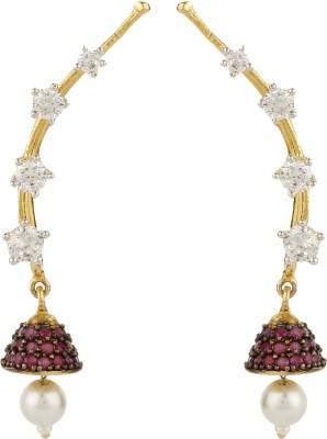 Dilan Jewels Jhumki Earcuffs Zircon Alloy Cuff Earring