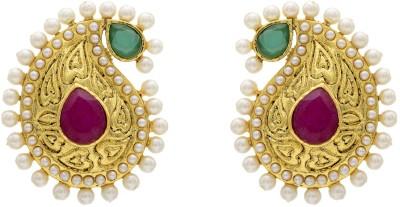 Hyderabad Jewels Pearl Copper Stud Earring