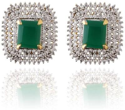 Pearls Cart Antique Golden Royal Meena Work Alloy Stud Earring