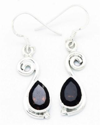 YugshaJewels Sparkling YJE-890 Quartz Sterling Silver Dangle Earring
