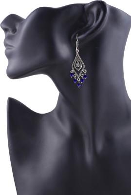 Arittra Blue Gs Metal Dangle Earring