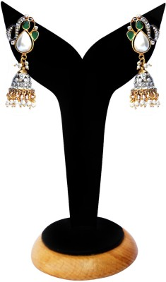 Beauty Palace Spring Sparkle Metal, Brass Jhumki Earring