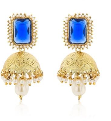 Cuzibox Stylish Blue Earrings Brass Jhumki Earring