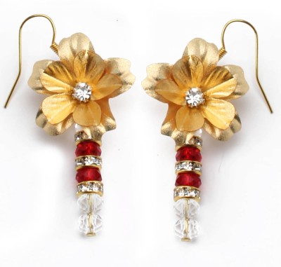 Aarya 24kt Gold Foil Flower Silicone Drop Earring