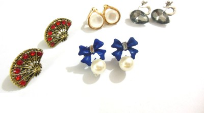 Bohocraft Bohemian Cute Set of Four Little Metal Stud Earring
