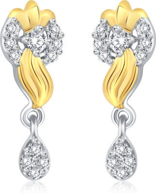 Classic Delicate Gold And Rhodium Plated Earrings for Women [CJ1017ERG] Cubic Zirconia Alloy Drop Earring