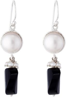 Aarohee Black Beauty Onyx Sterling Silver Dangle Earring