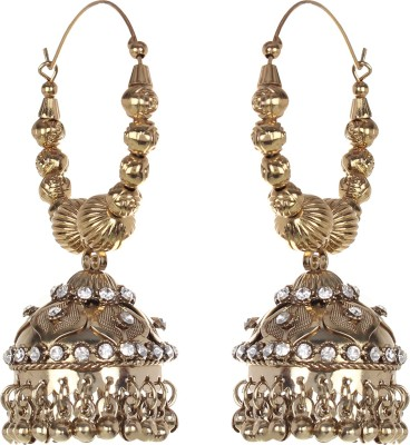 Saadgi Bollywood style Golden Bali Alloy Jhumki Earring