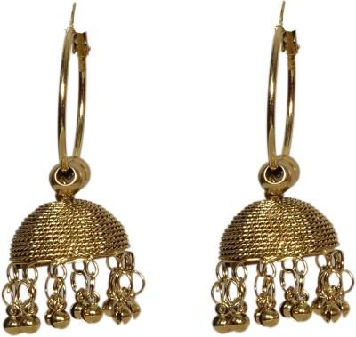 Neelam gold antique light weight zumki with bali Alloy Jhumki Earring