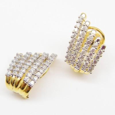E-Designs CHAP5LGJ01 Cubic Zirconia Alloy Clip-on Earring
