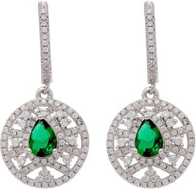 Ijuels Princess vogue treasures delight Cubic Zirconia Silver Drop Earring