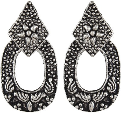 Crazytowear Oxidised Antique Style Alloy Drop Earring
