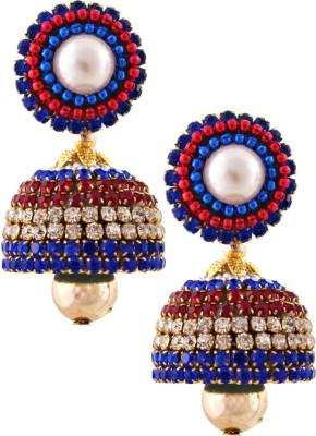 RR ENTERPRISES Hancrafted Multicolor Diamond Jhumka Paper Jhumki Earring
