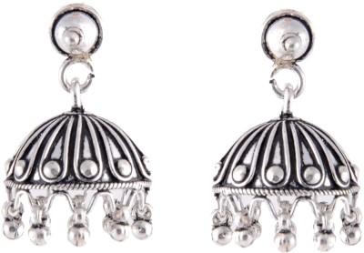 Aashirwad Oxodise Hook Silver Jhumki Earring
