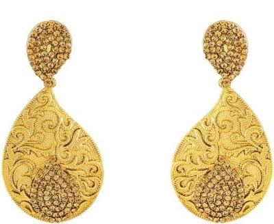 Art Nouveau New Style Antique Design Beautiful Stone Brass Chandelier Earring