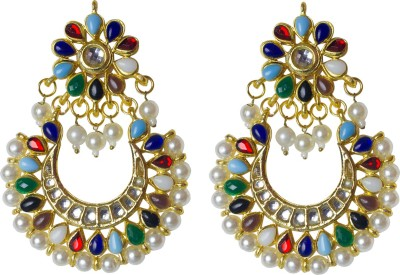 Jewelgrab Marvelous Multicolor Alloy Chandbali Earring