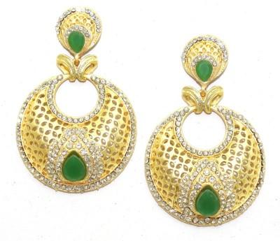 Aarnaa Matte Gold Plated Alloy Drop Earring