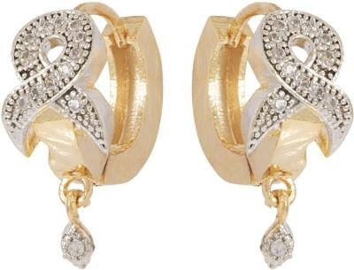 Voylla Precious Classic Embellished Cubic Zirconia Alloy Hoop Earring at flipkart