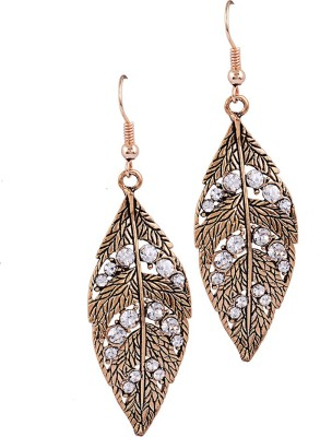 Sanaya Collection Floral Zircon Alloy Dangle Earring