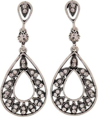 Maayra Sober Crystal Alloy Drop Earring