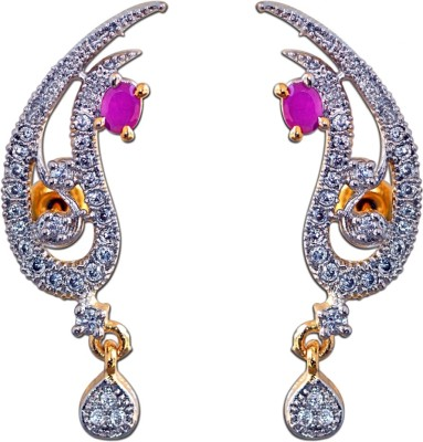 Enzy Ravishing Gold Plated Alloy Drop Earring