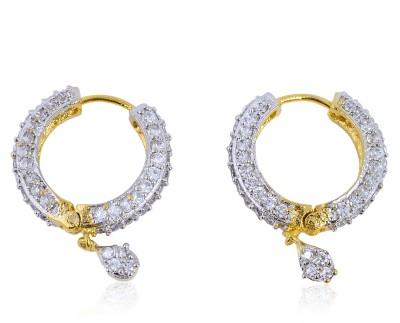 Tiara Gems Zircon Copper Hoop Earring