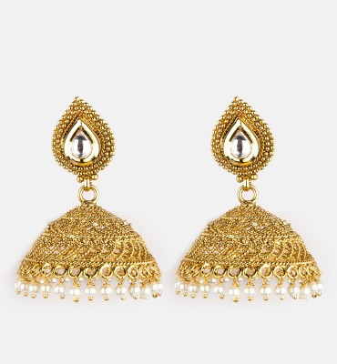 Bridesmaid Pearl Copper Jhumki Earring