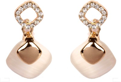 Divitha Allure golden chic alloy droping pair of happyness. Alloy Drop Earring