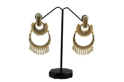 Bharat Sales Party wear Shining Diva Latest Designer earing Cubic Zirconia Copper Chandelier Earring