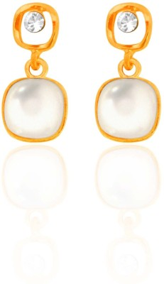 Camy Royal Gold Cubic Zirconia Alloy, Brass Drop Earring