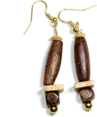 Karukala WOOD-1 Wood Dangle Earring